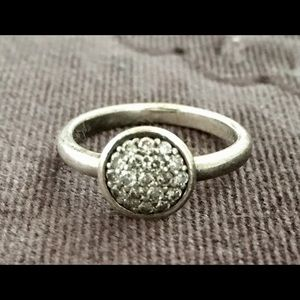1/4 karat diamond sterling silver ring